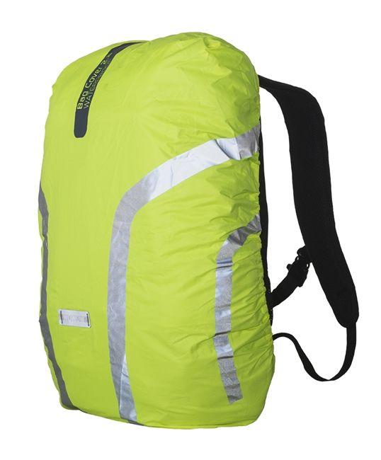De Bag cover 2.2 heeft drie sterke troeven: Deze rugzakhoes is 100% waterdicht, droge rugzak of boekentas verzekerd!  Niet langer een 90° reflectie, dankzij deze hoes kan je rekenen op 360° zichtbaarheid Hij maakt je rugzak extra sportief én waarborgt jouw veiligheid in het verkeer.  Trek deze fluo gele en reflecterende hoes over je rugzak of tas en je zal zeker gezien worden.