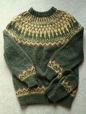 Genuine Alafoss Lopi Icelandic hand knitted wool jumper man or woman NEW XL