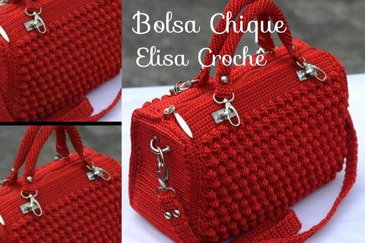 Versão canhotos : Bolsa chique em crochê ( 2ª parte ) # Elisa Crochê