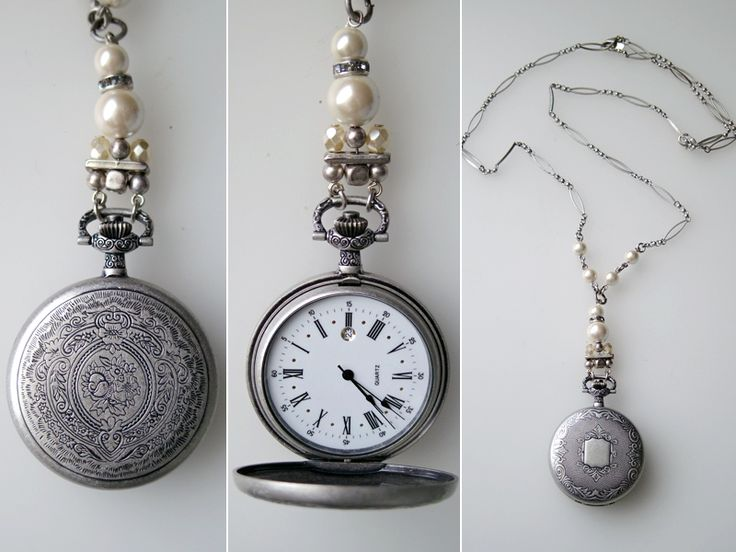 Mimco Vintage Fob Watch Necklace