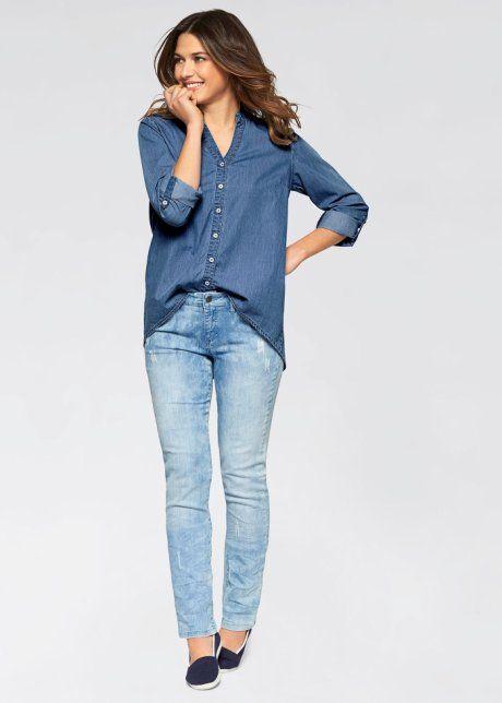 La chemise en jean, manches longues, John Baner JEANSWEAR