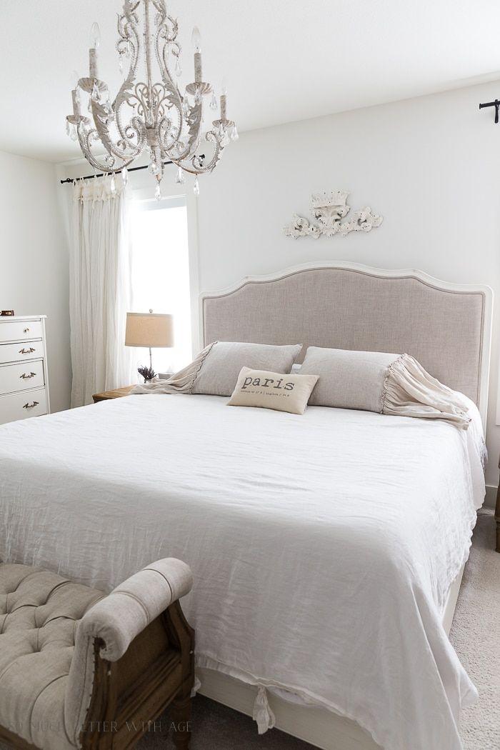 Linen Ruffled Shams Bedroom 110