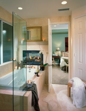 1000 Images About Master Bathroom With Fireplace On