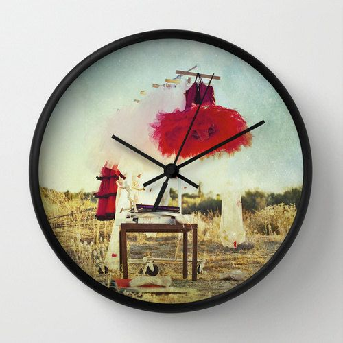 Red Tutu Wall Clock Ballet Photo Wall Clock Tutu by whimsycanvas, $50.00