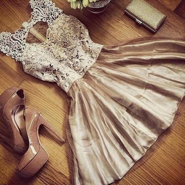 European Ladies Elegant Sleeveless Gold Lace Stitching Slim Dress - Lupsona
