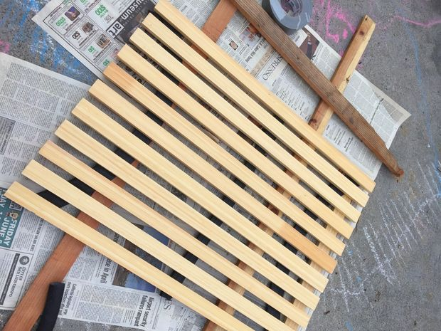 Recycled Portable Wooden Shower Mat Portable Outdoor