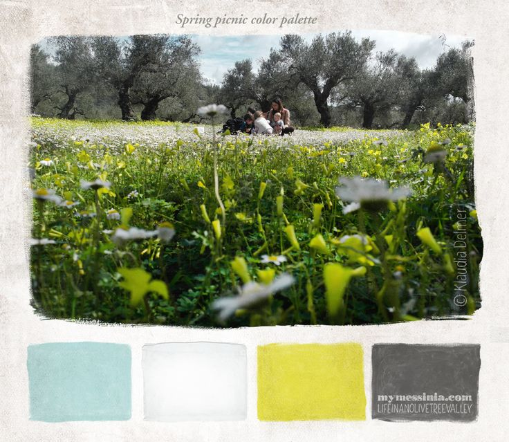 Spring picnic color palette | My Messinia