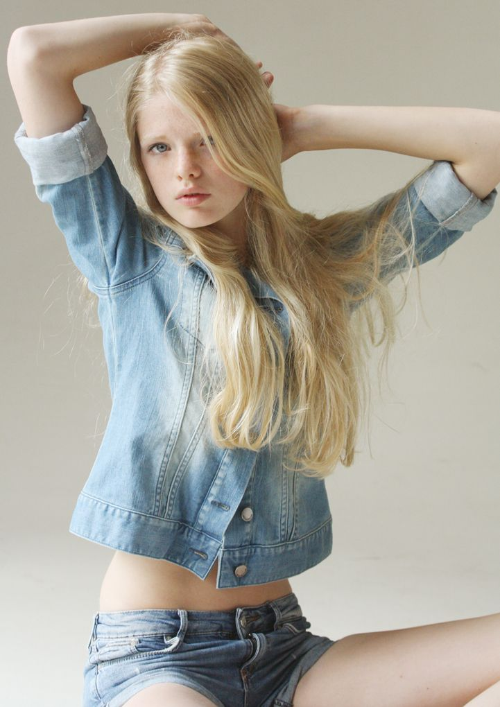 Posing Sexy Blonde Teen Model 45