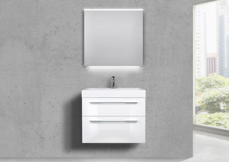 Design Badmobel 70 Cm Waschtisch Mit Unterschrank Und Lichtspiegel Led Unterschrank Spiegelschrank Led Waschtisch