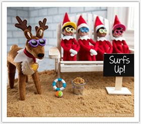 Ever wondered what scout elves do for summer fun? Find out what summertime is like at the North Pole in these exclusive photos for your little ones! | Children's Stories | North Pole News | Elf on the Shelf Updates