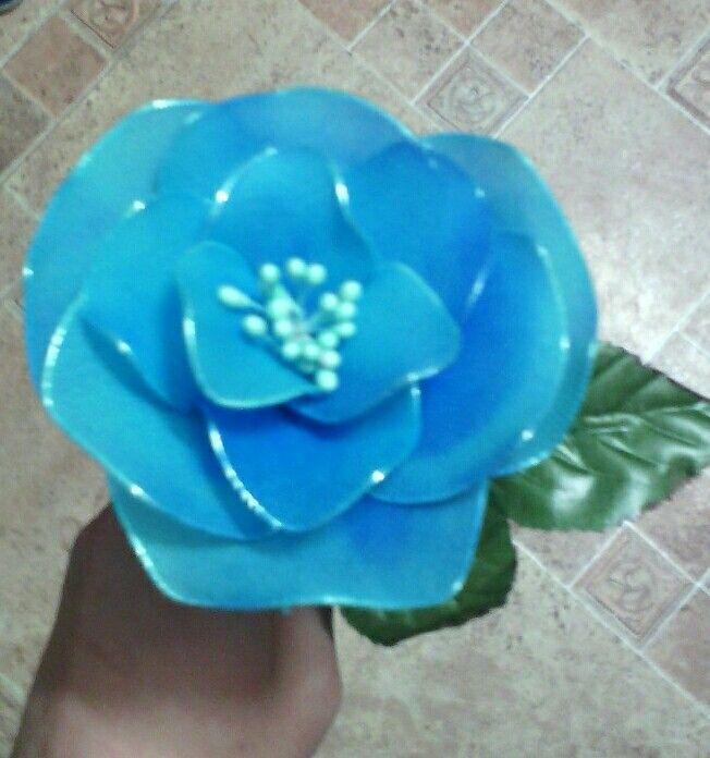 Harisnyavirág kék rózsa - Nylon flower blue rose