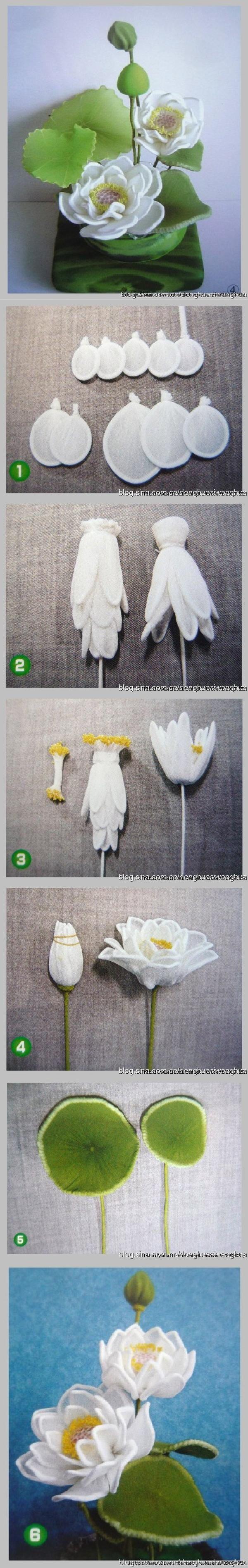 DIY Nylon Lotus Flower DIY Proyectos