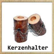 Kerzenhalter aus Stammholz www.loewekunst.de