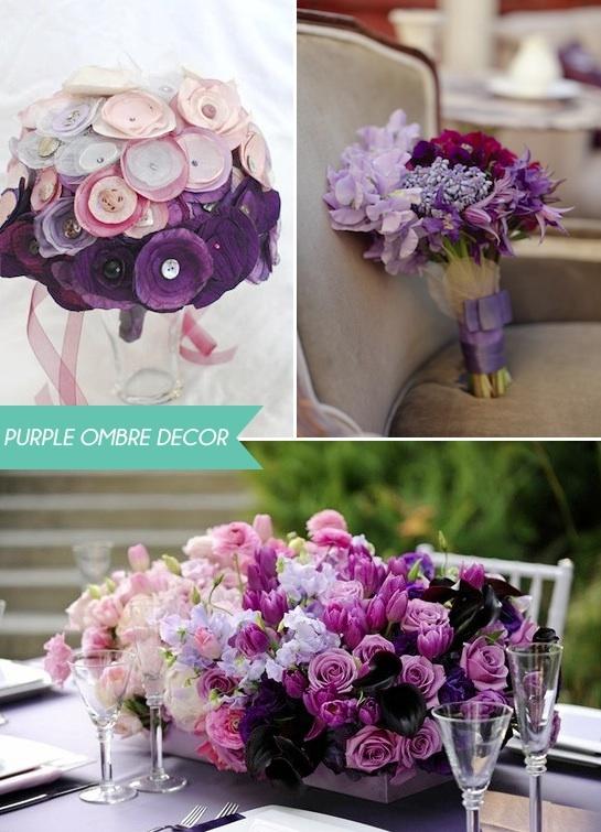 Purple Ombre Dreamloveding Pinterest Purple Wedding