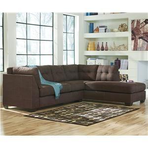 Nashville Discount Furniture: $805 Benchcraft Maier   Walnut 2 Piece  Sectional W/ Sleeper