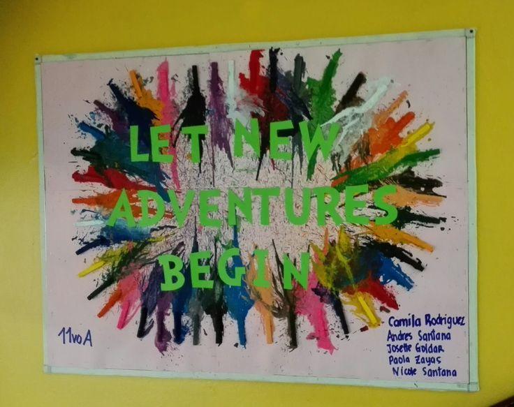 Nuestro precioso Mural en el 3er nivel del #colegioabcschool #teens #crayola #arts www.cademyrd.com