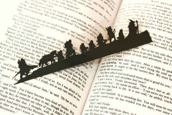 I WANT THIS!! Lord of the Rings silhouette bookmark | The 33 Best Geeky Things To Buy On Etsy