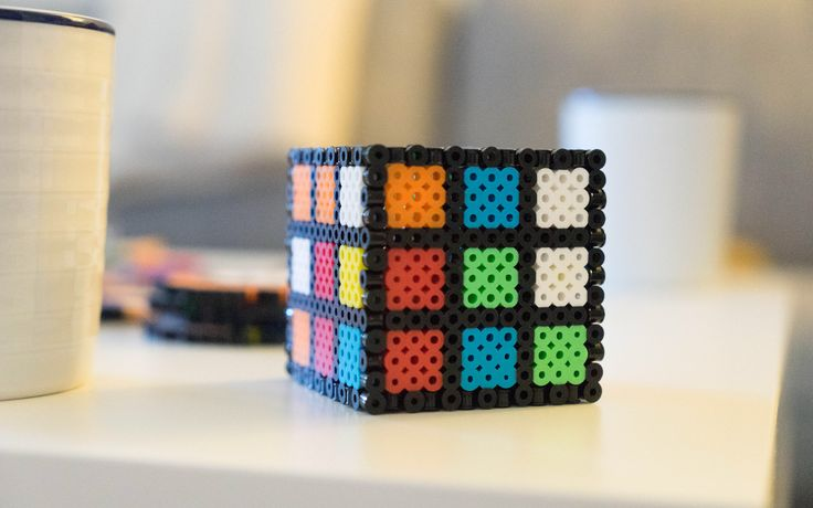 Excited to share the latest addition to my #etsy shop: Rubik's Cube Penny Bank - Rubik Cube Coin Bank - Perler Beads