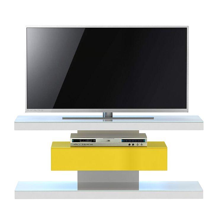 TV-Rack SL 610 - Weiß / Gelb, Jahnke Jetzt bestellen unter: https://moebel.ladendirekt.de/wohnzimmer/tv-hifi-moebel/tv-racks/?uid=c26af1ce-7c4e-5ddb-a9c1-dce2202e2c17&utm_source=pinterest&utm_medium=pin&utm_campaign=boards #möbel #tvracks #wohnzimmer #mediamöbel #tvhifimoebel #jahnke