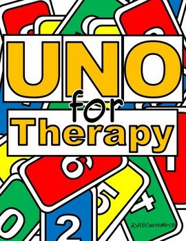 Uno For Therapy Teachers Pay Teachers Play Therapy Activities