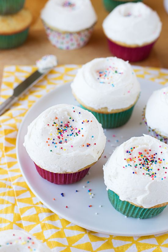Everyone needs a go-to classic vanilla cupcake recipe, this is mine! They're moist, tender and full of the most delicious buttery vanilla flavor!
