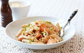 Pasta med fänkål och lax - Recept - Arla