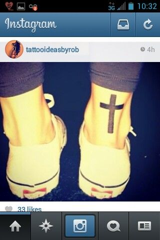Cross tattoos, Christian tattoos, solid tattoos, simple tattoos, tattoos for women, girls, men
