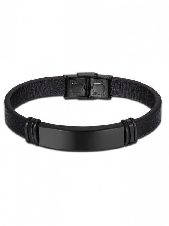 Artificial Leather Vintage Bracelet - BLACK #vintagebracelets