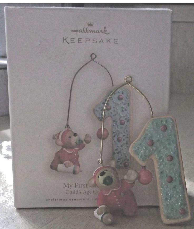 My First Christmas 1 Childs Age Hallmark Keepsake Ornament 2008 NEW Sue Tague