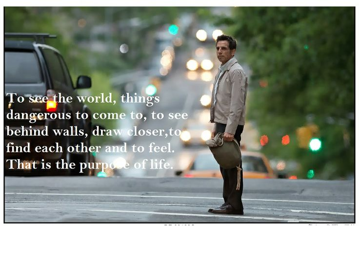 The purpose of life. (The Secret Life of Walter Mitty.)