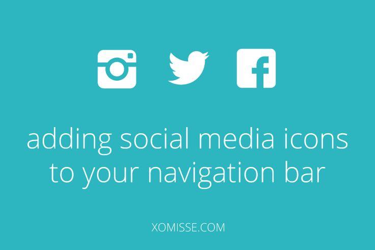 social-media-icons-to-navigation-bar