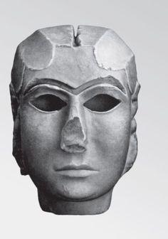 Мраморная маска богини Инанны из Урука. Протописьменный период. Рубеж IV и III тыс. до н. э.