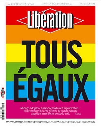 Portada de Liberation. Ley de Igualdad para los homosexuales