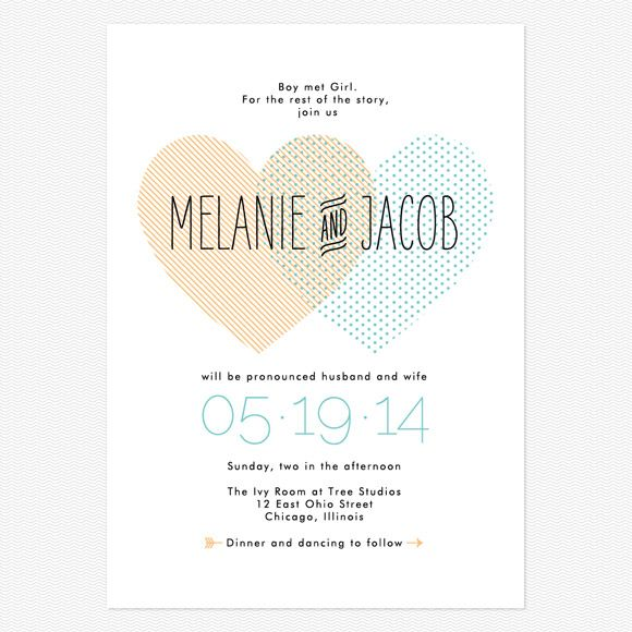 Sample Heart to Heart Wedding Invitations www.lovevsdesign.com. this would be cute in fire red and navy.