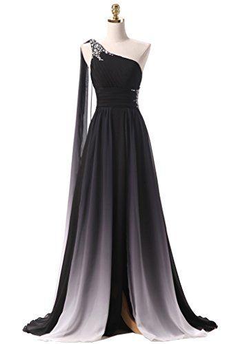 Himoda Gradient Color Beaded Prom Dresses Chiffon Evening…