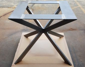 Modern Table X Base Model 003 by DVAMetal on Etsy