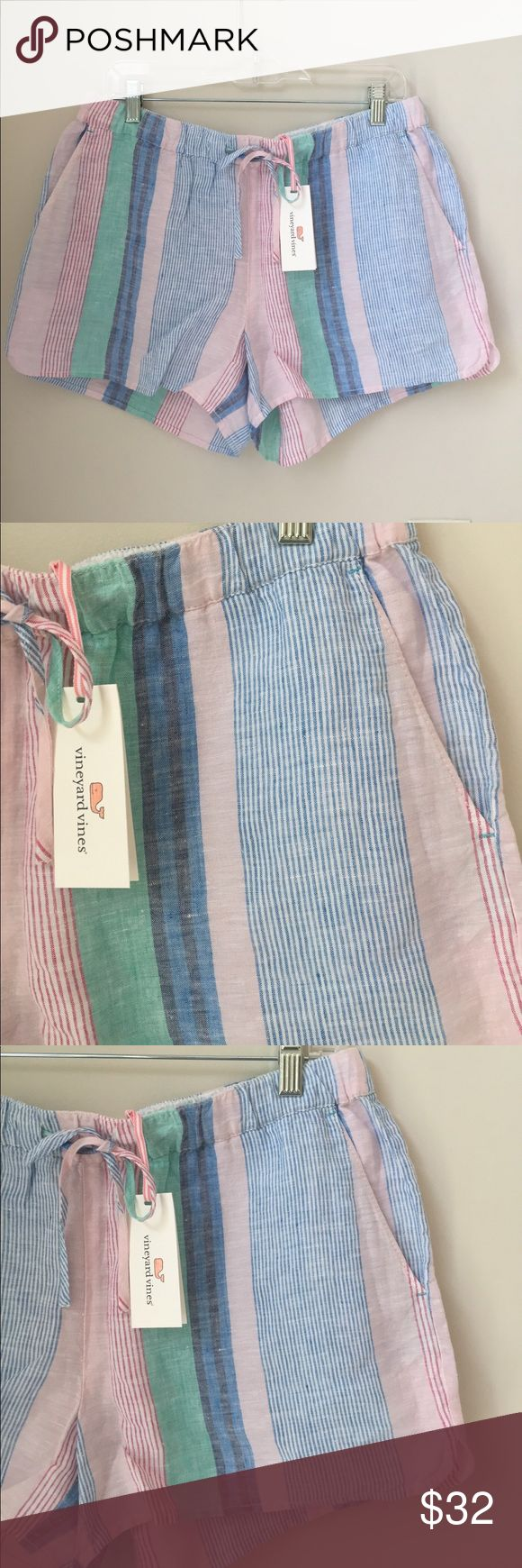 Vineyard Vines Shorts NWT!! Pull on shorts; drawstring; side pockets; back pockets; whale logo embroidered above back pocket Vineyard Vines Shorts