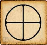 Cruz solar  - Símbolos celtas - La cruz solar es probablemente el símbolo espiritual más antiguo del mundo. Está formado por una cruz armada dentro de un círculo y representa el calendario solar, los movimientos del sol, marcados por los solsticios. También es conocida como La Cruz de Odin.
