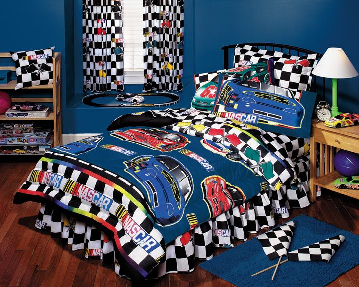 Nascar Boys Bedding Nascar Checkered Flag Bed In A Bag