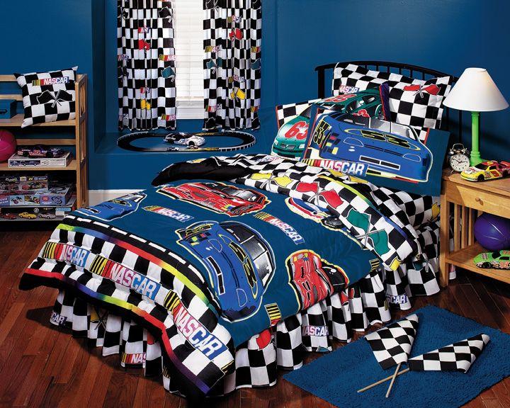 Nascar Boys Bedding Nascar Checkered Flag Bed In A Bag