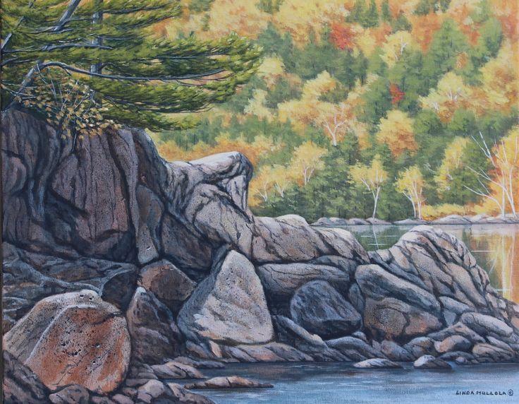 """""""September Morning - Long Lake"""" Acrylic 16 x 20 www.lindamullola.com"""