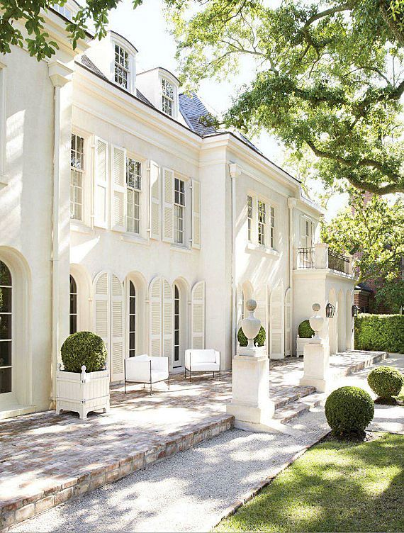 Inspiring Exteriors Beautiful Homes Beautiful Houses Exterior House Exterior French Style Homes