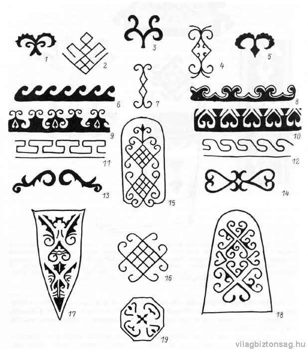 Kun Ornamentika Régészeti leletek hiteles rajzai.