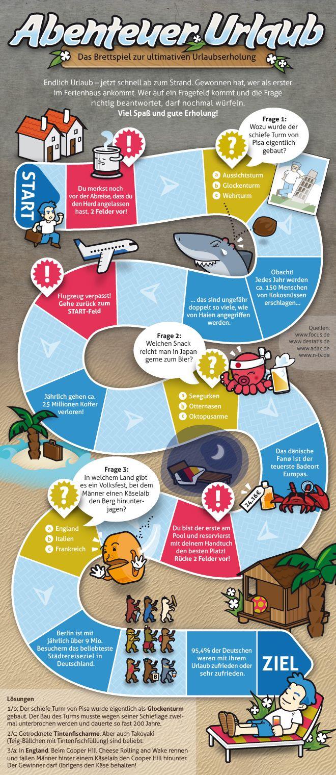 Reisespiel - Abenteuer Urlaub: Kurzweiliges Spiel mit kleinen Tipps zur Urlaubsvorbereitung und ein paar interessanten Fakten zu unseren Nachbarländern