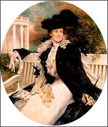 Edith Roosevelt, Teddy's second wife. This is the official White House portrait.