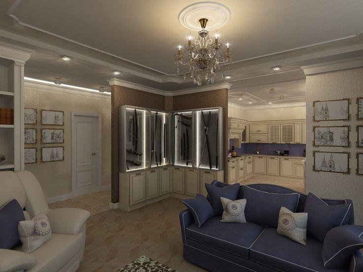 Дизайн трехкомнатной квартиры в ЖК Ямайка, общей площадью 118 кв. м., получился классическим, но в то же время ярким и выразительным, а также очень функциональным — задействован буквально каждый метр пространства, но комнаты не перегружены деталями.  Классический стиль наилучшим образом отражает консервативные взгляды хозяев квартиры — пары средних лет.  Сайт: http://саратов-дизайн.рф Группа: http://vk.com/designsaratov Телефон: 89271332827