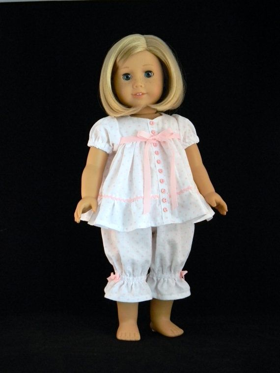 Baby doll pajamas for 18 American Girl Doll  An by BringingJoy