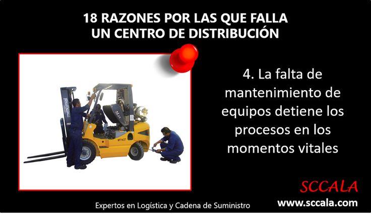 4. La falta de mantenimiento de equipos detiene los procesos en los momentos vitales