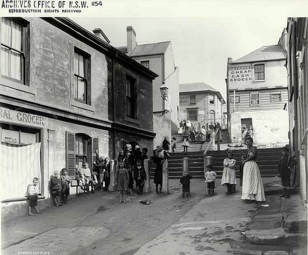 1901. Cumberland Place, The Rocks