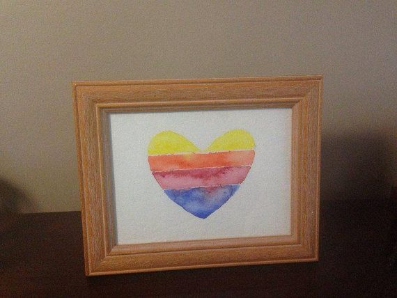 Multicolored heart. Symbol of love and by TinkerTailorDesign